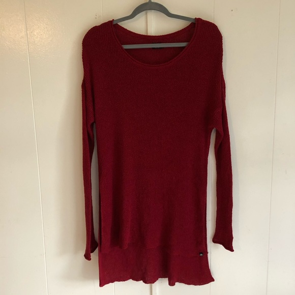 Volcom True to This Red High Low Knit Sweater ❤️